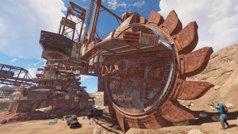 Rust Гигантский экскаватор ТОННЫ ресурсов