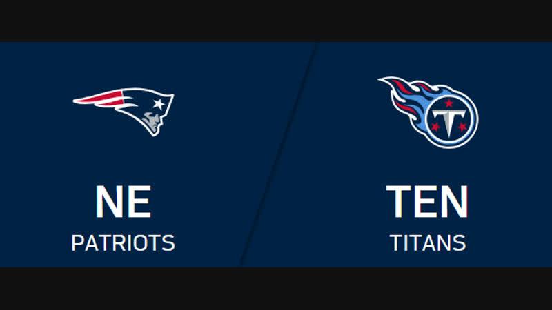 NFL 2018-2019 / Week 10 / New England Patriots - Tennessee Titans / 1H / EN