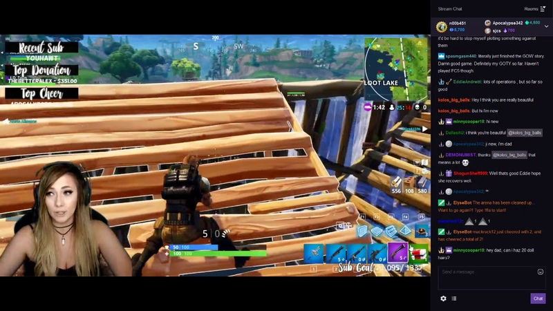 Fortnite Gameplay from Twitch - by Lindsay Elyse (Part 4.)