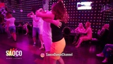 Denis Romanov and Nadezda Neskoromnaya Salsa Dancing in Ludovic at Boogaloo Party, Sunday 15.07.2018