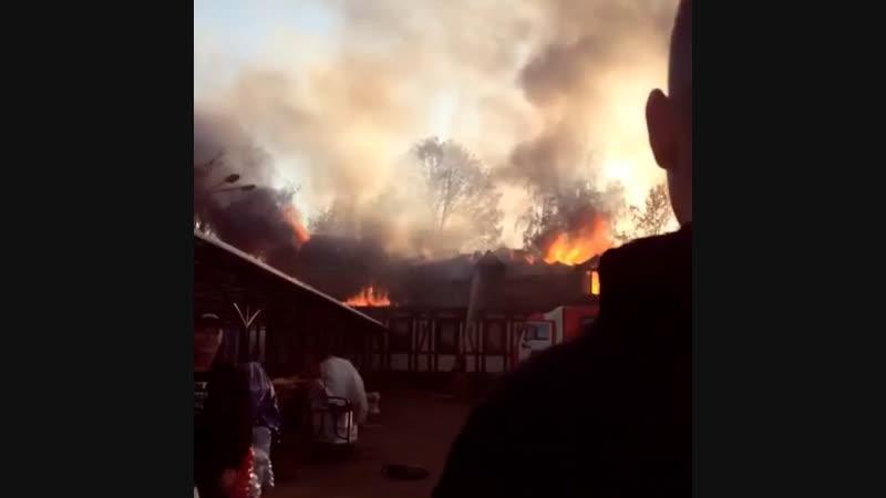 Пожар на ст. Фабричная 18.10.2018