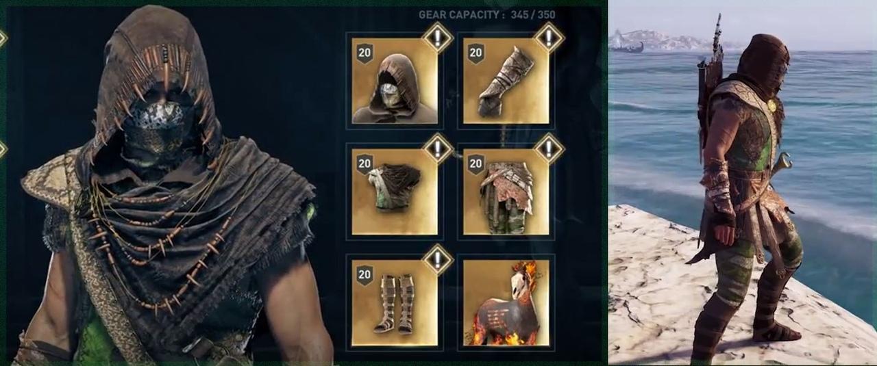 Набор легендарной брони Змеи в Assassin's Creed Odyssey