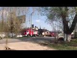Пожар в Алексине - сгорел магазин Вкус (Сельпо)