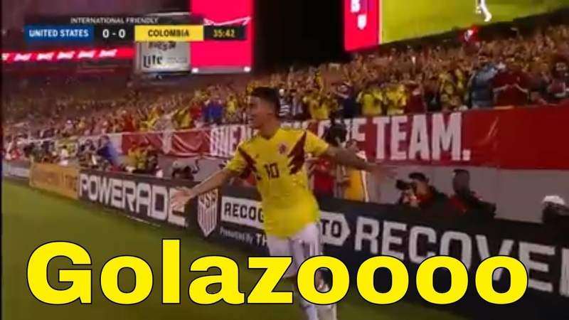 GOL DE JAMES RODRIGUEZ COLOMBIA VS ESTADOS UNIDOS 1-0