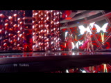 Hadise Dum Tek Tek Eurovision Song Contest 2009 Semifinal 1 Satellite Feed HD