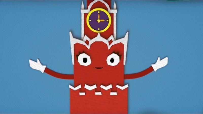 Обучающий мультфильм для детей Домики Спасская башня история России