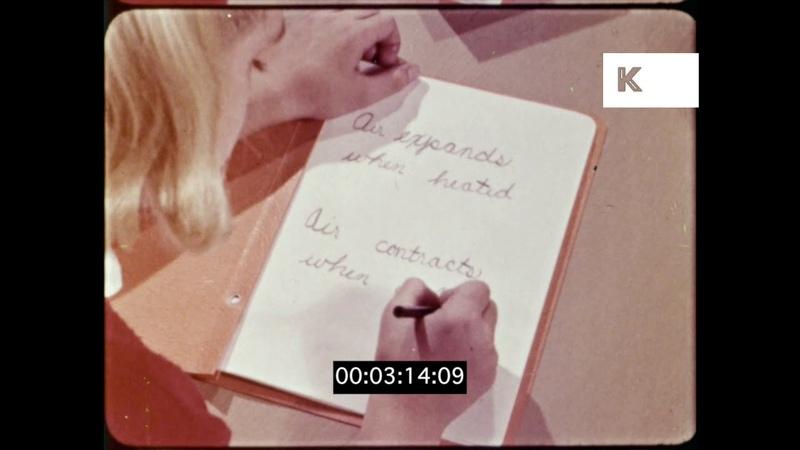 1960s Children Doing Science Homework, HD from 16mm