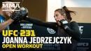 UFC231 Открытая тренировка Йоанны Енджейчик