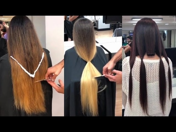 Increíbles Cortes de Cabello largo a Corto Best Haircuts Transformation 2018