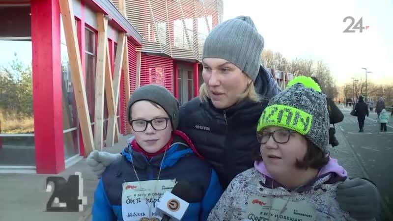 Детский забег прошел в Горькинско-Ометьевском лесу Казани