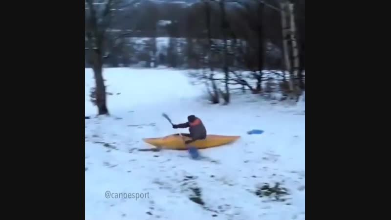 When there's fresh pow but canoe is life