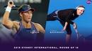 Samantha Stosur vs Timea Bacsinszky 2019 Sydney International Round of 16 WTA Highlights