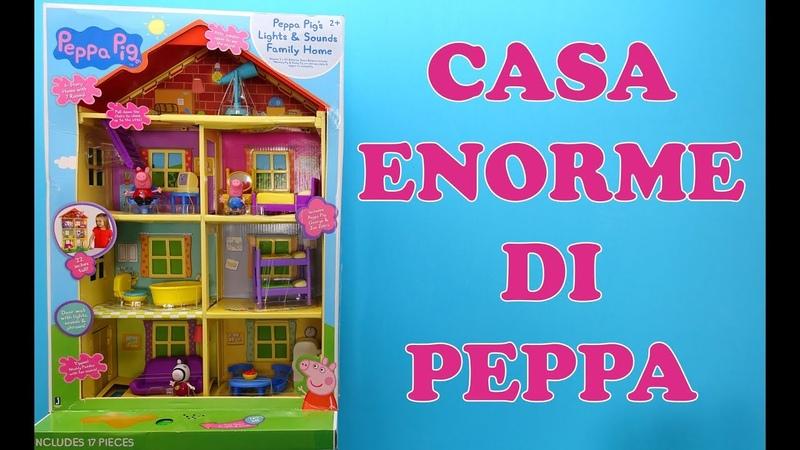 Peppa Pig. La casa più grande di Peppa con quattro piani. Il più grande giocattolo di Peppa Pig