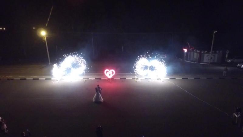 свадьба пиротехническое шоу Annam Brahma квадрокоптер