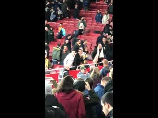 Nazi salutes and monkey gestures from @valenciacf fans @Arsenal