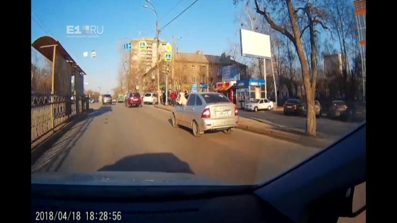 Собака проехалась по Екатеринбургу за рулем автомобиля