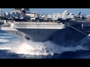 U S nuclear powered SUPERCARRIER steams FULL SPEED into the PACIFIC to conduct FLIGHT OPERATIONS!