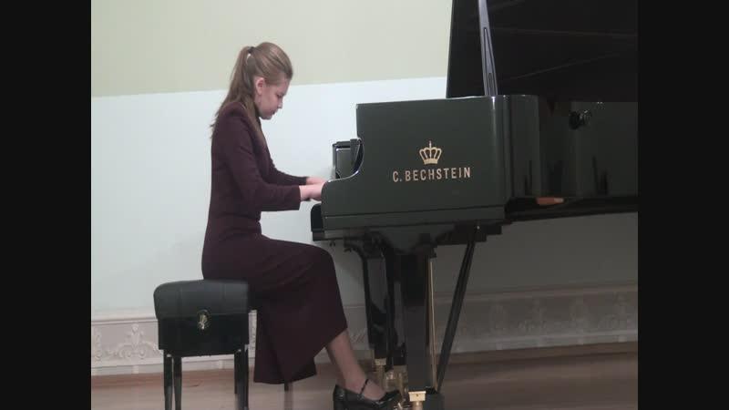 Академический концерт I курс Екатерина Зыкова