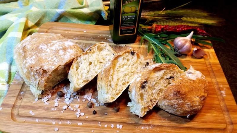 Рецепт Чиабатта (Итальянский хлеб)