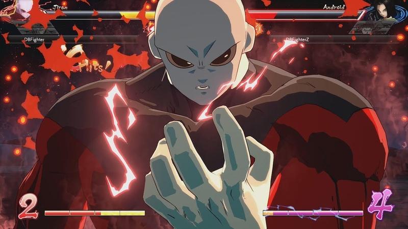Dragon Ball FighterZ - Jiren vs Super Saiyan Blue Goku Videl vs Ultimate Gohan Gameplay (HD)