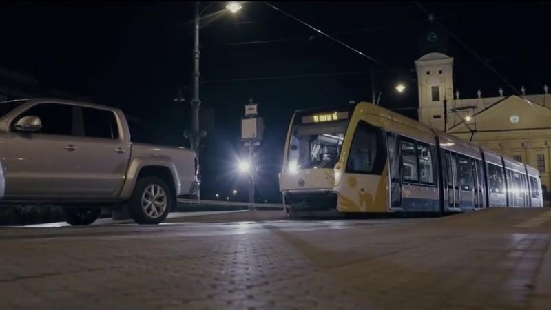 Amarok буксирует 49 тонный трамвай