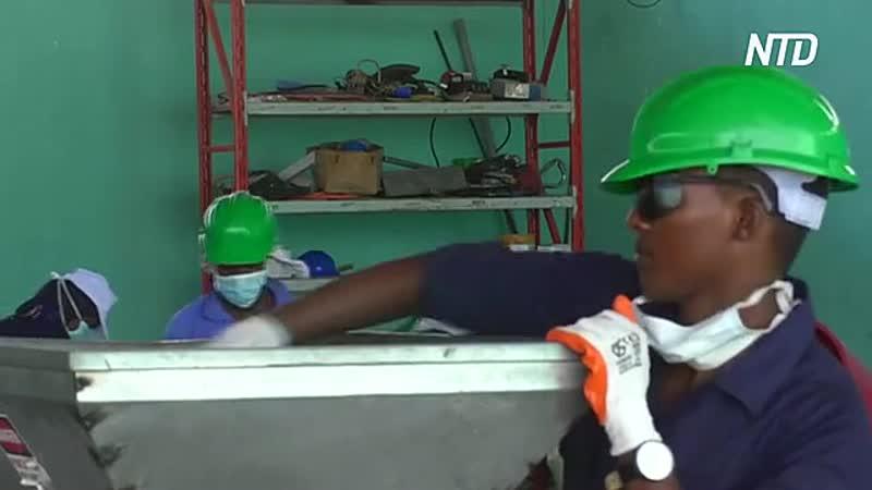 В Сомали пластиковые отходы превращают в кровельную плитку