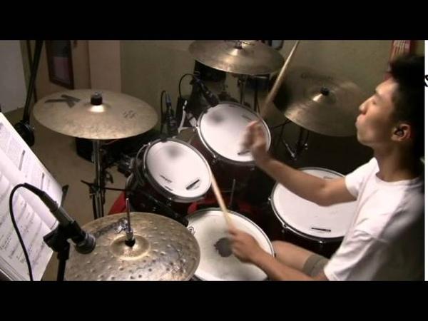 Dave Weckl - Sixteenth feel play along by Derek Hung