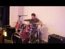 ЧП - барабанное соло на вечеринке Слова на холсте