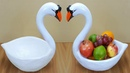 Birthday gift showpiece making at home Swan fruit pot swan showpiece Best out of waste