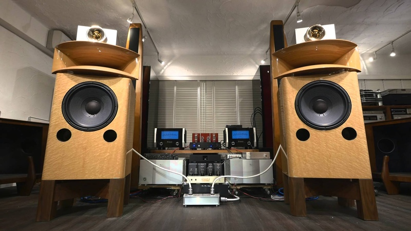 Absolutely perfect! KRS Birdseye Maple Speakers Plasma Tweeter driven by 20 Watts 845 tube amps 5