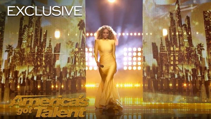 Tyra Banks SLAYmazing Entrances On AGT - Americas Got Talent 2018