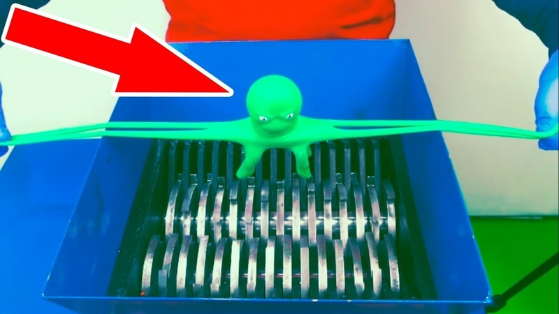 А Что будет с осьминогом STRETCH OCTOPUS TOY в шредере дробилке?!