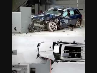 Краш-тест BMW X3 и Mercedes-Benz GLC
