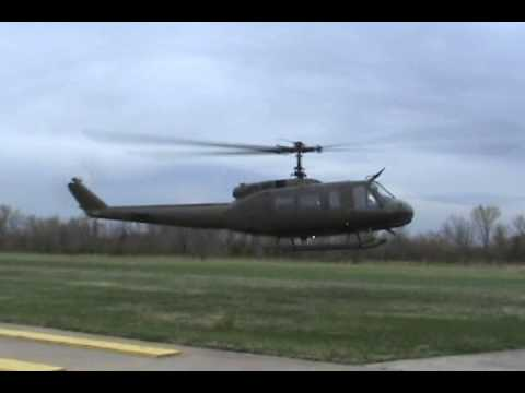 UH-1H Huey startup and flyby