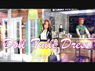 DIY - How to Make- Doll Tulle Dress - - Handmade - Crafts