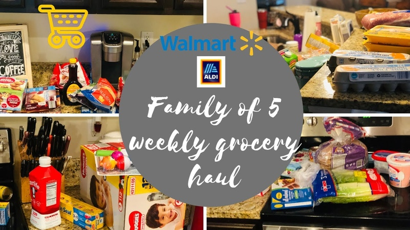 Family of 5 HUGE grocery haul ALDI AND WALMART