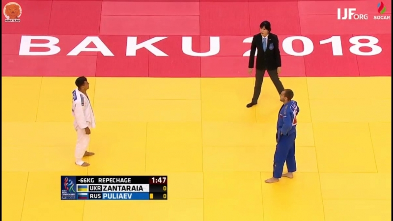 Утешиловка Чемпионата мира по дзюдо в категории до 66 кг. Георгий Зантарая (Украина) - Михаил Пуляев (Россия)