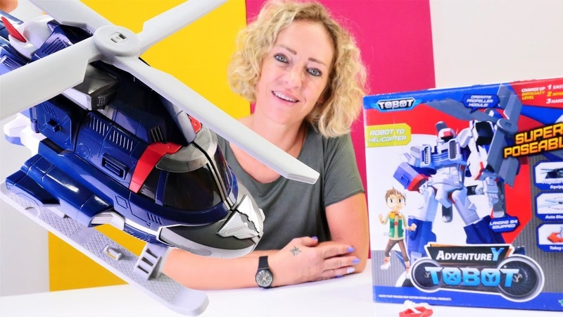 Adventure Tobot Spielzeug - Wir bauen einen Roboter Hubschrauber