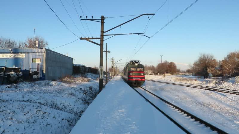 Поезд 020К Лугань сообщением Киев - Лисичанск проходит о.п. 18 км. на участке Харьков-Балашовский - Лосево - Рогань - Купянск-Узловой