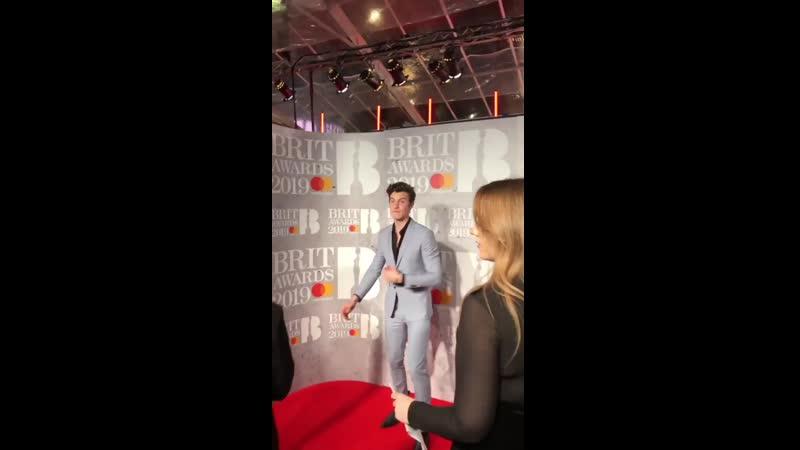 Шон на красной дорожке BRIT Awards, 20.02.19