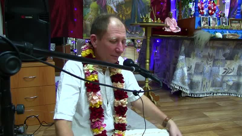 лекция по БхагавадГите 10.15 в йога студии Вишну Е.М. Анантарупа Гаур дас021218