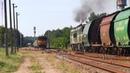 Скрещение грузовых поездов The meeting of two freight trains