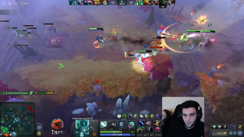 Few games of Dota before Tales launch