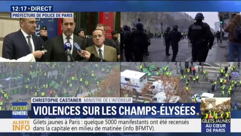 Violences à Paris: Christophe Castaner évoque une mobilisation de l'ultra droite