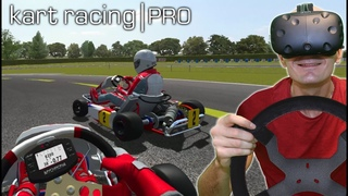 GO KART RACING SIMULATOR IN VIRTUAL REALITY | Kart Racing Pro VR HTC Vive Gameplay