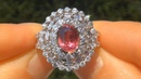 GIA Certified VVS2 Clarity Authentic Earth Mined 5.30 Carat Ruby Diamond Estate Ring.