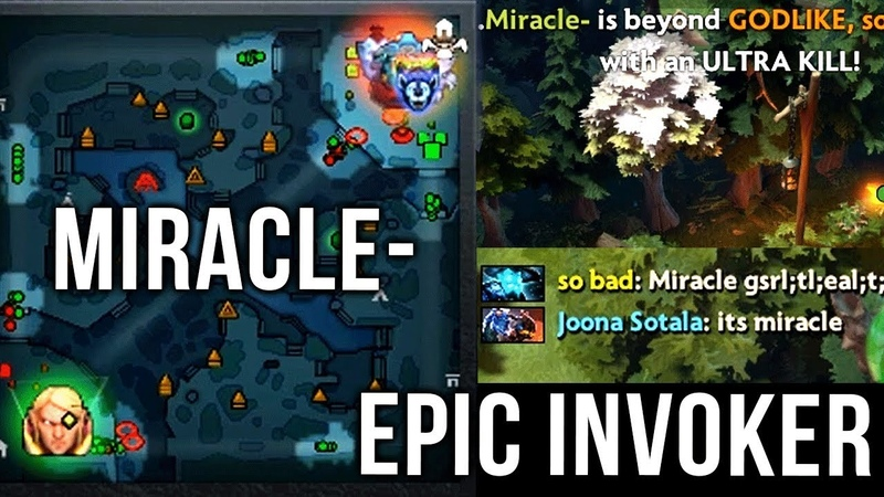 Miracle Most EPIC Invoker 2018 CRAZY Base Race Refresher Orb Octarine Build Dota 2