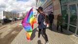 ПРОСТО ПРОГУЛКА С ЛГБТ ФЛАГОМ В Г.НИЖНЕКАМСК Diana Salamandra