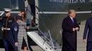 President Trump and Melania Trump depart Joint Base Andrews en route to Pittsburgh, Pennsylvania.