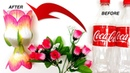 How to Transform Plastic Bottle into Cute Flower Vase DIY Art and Crafts Ideas